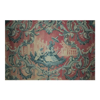 French Faded Toile Fabric For Sale