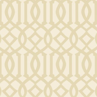Sample - Schumacher Imperial Trellis II Wallpaper in Sand/Ivory Preview