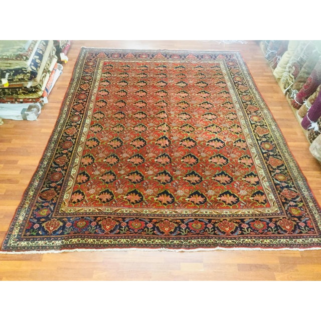 "1920's Persian Bijar Rug-9'1'x12"" For Sale - Image 10 of 10"