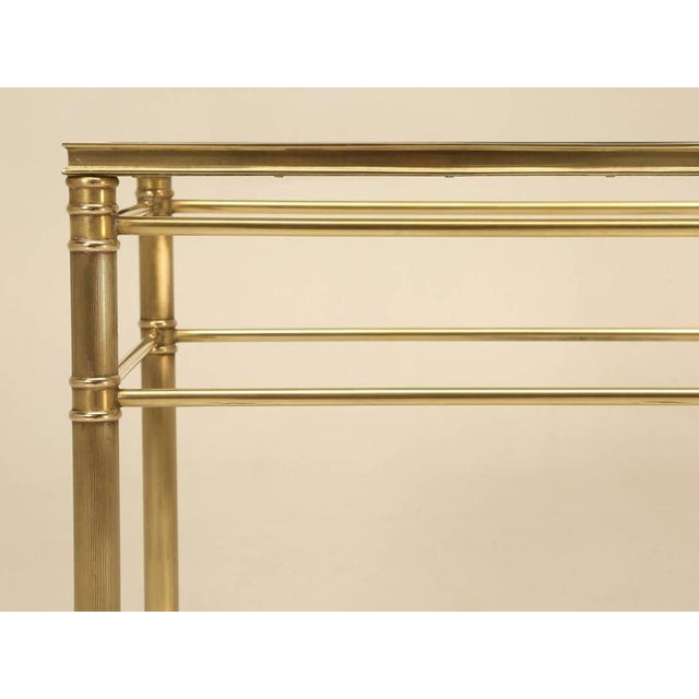 Mid-Century Modern Brass End Table with Paw Feet For Sale - Image 9 of 10