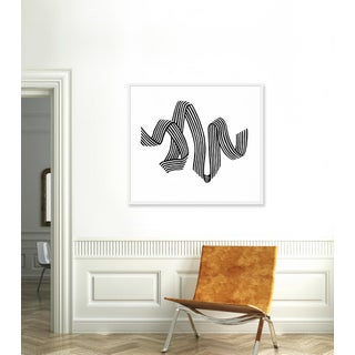 "Large ""White Stripe Ribbon"" Print by Angela Chrusciaki Blehm, 43"" X 37"" Preview"