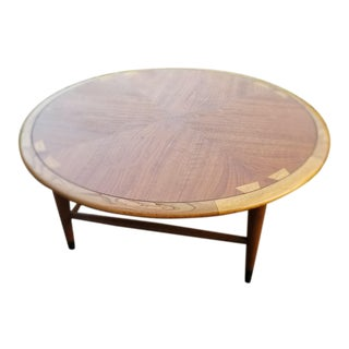 1960s Mid-Century Modern Lane Acclaim Round Coffee Table For Sale