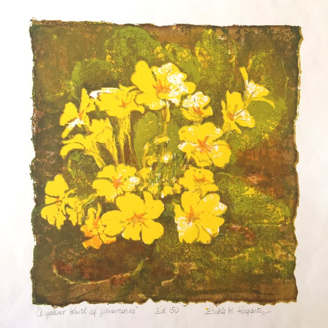"""""""A Yellow Whirl of Primrose"""" Woodblock - Image 2 of 4"""
