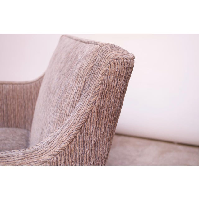 Wood Edward Wormley for Dunbar Revolving Lounge Chair in Mahogany For Sale - Image 7 of 13