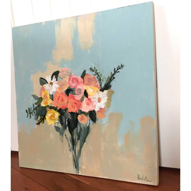 """May Bouquet Painting - 20"""" x 20"""" - Image 2 of 3"""