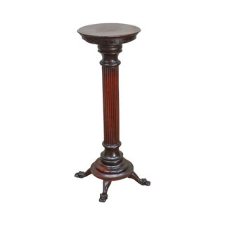 Antique Victorian Mahogany Column Pedestal Horner For Sale