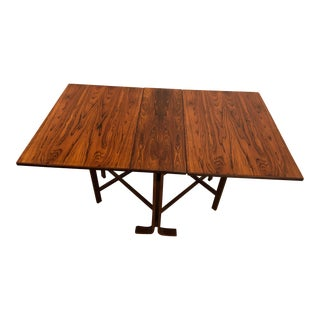 Rosewood Mid Century Dining Table Made in Norway for Westnofa For Sale