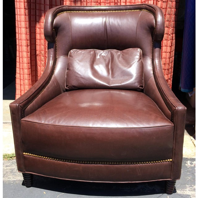2 Baker Furniture Tuileries Leather Chairs - Image 2 of 9