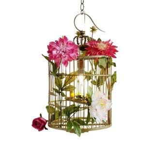 Bird Cage Pendant Light For Sale