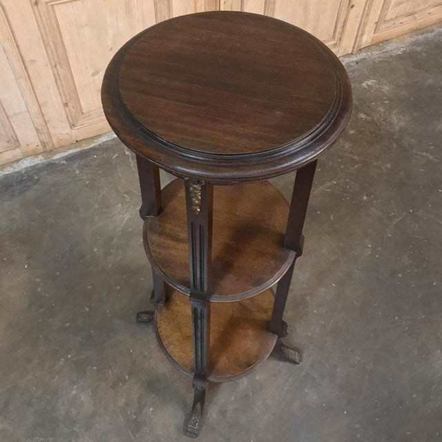 19th Century French Louis XVI Mahogany Pedestal With Bronze Mounts For Sale In Dallas - Image 6 of 11