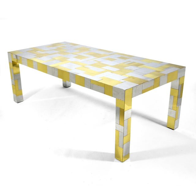 Gold Paul Evans Cityscape Dining Table For Sale - Image 8 of 10