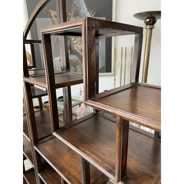 1960s Asian Style Wooden Etagere For Sale - Image 10 of 11