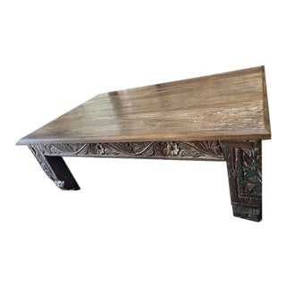 Rustic Old World Table Chai Coffee Table For Sale