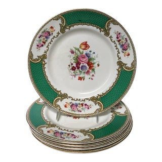 Early 20th Century Antique Myotts Staffordshire England China Luncheon Plates - Set of 5 For Sale