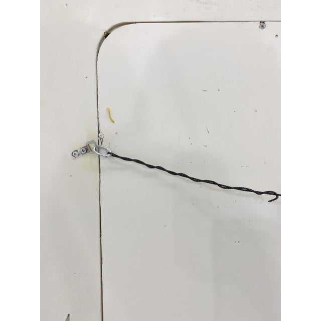 1980s Karl Springer Style Faux Goatskin Lacquered Mirror For Sale - Image 5 of 7