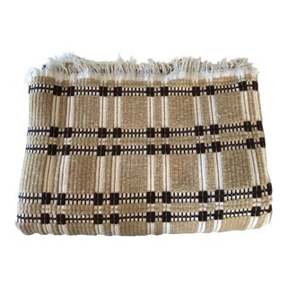 African Textile Woven Bedcover Blanket Brown