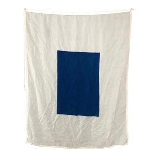"Vintage Nautical Flag Signal ""S"""