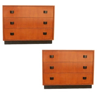 Art Moderne Low Boy Dresser Set by Gilbert Rohde For Sale