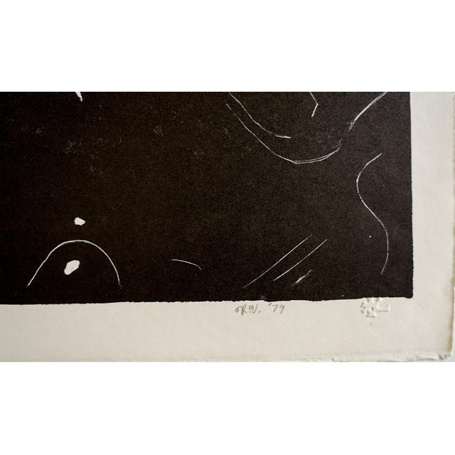 Abstract 1979 Abstract Lithograph by Russell Vogt For Sale - Image 3 of 6