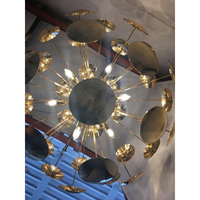 Huge and Rare Century Gold Metal Frame Sputnik Chandelier For Sale - Image 10 of 13