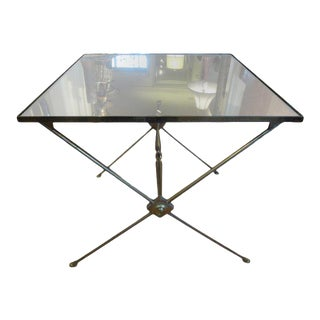 1940s French Neoclassical Style Brass Side Table For Sale