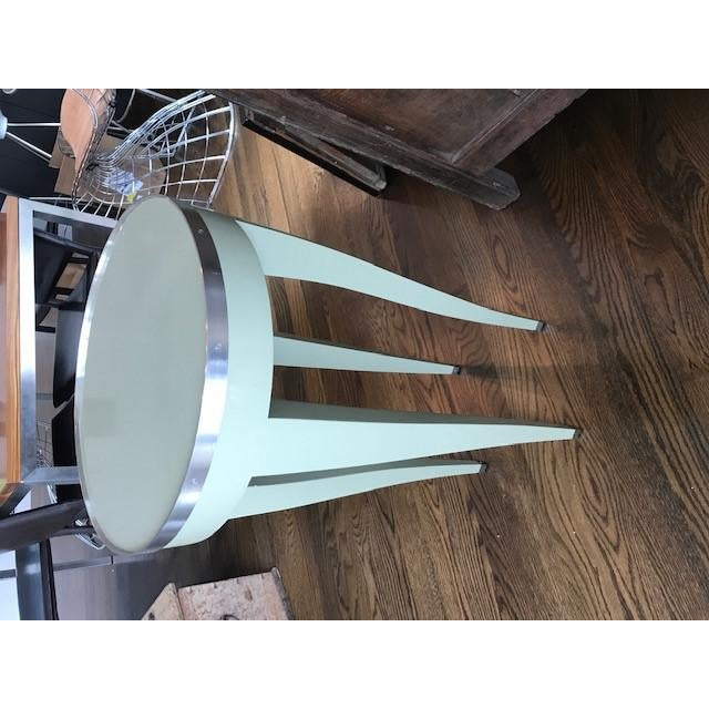 Metal Donghia Green Side Table For Sale - Image 7 of 10