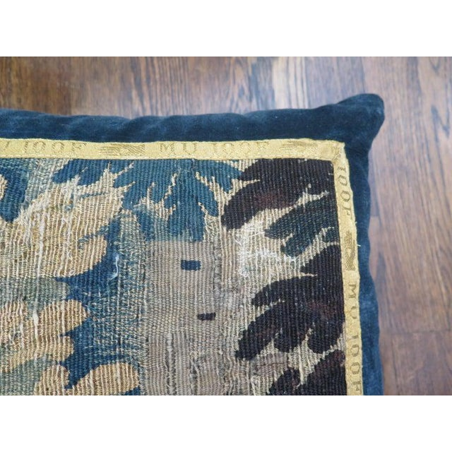 French 18th Century Maison Maison Verdure Tapestry Pillow For Sale - Image 3 of 7