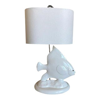 Oversize Angel Fish Lamp & Shade For Sale