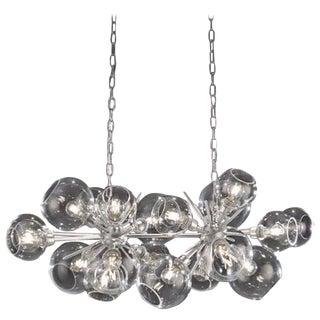 Horizontal Duo, Blown Glass Pendant Lamp For Sale