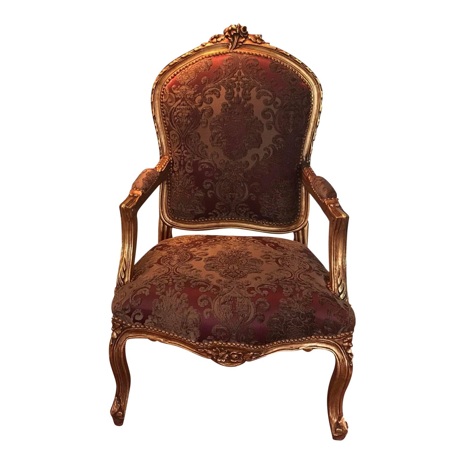 Modern louis xv accent chair chairish