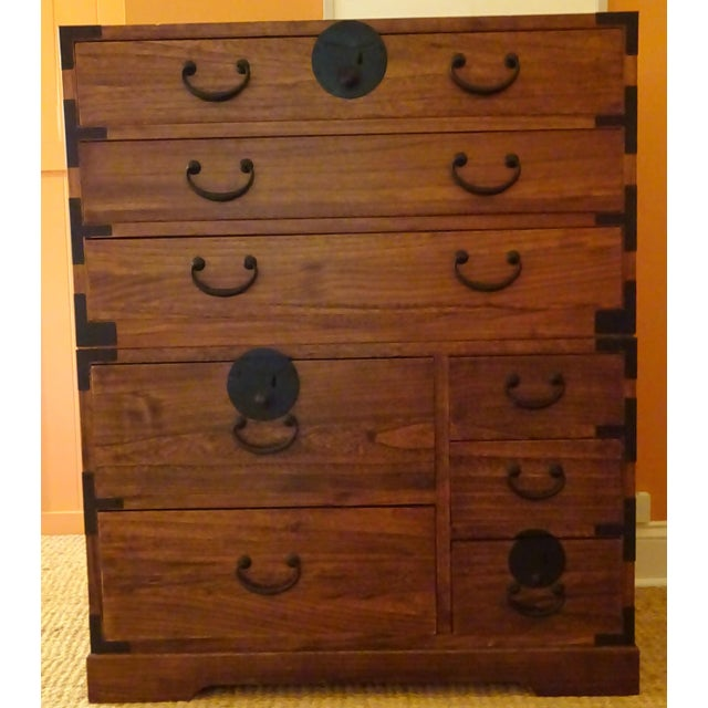 Japanese Style 3 Piece Stacking Tansu Clothing Chest - Image 5 of 11