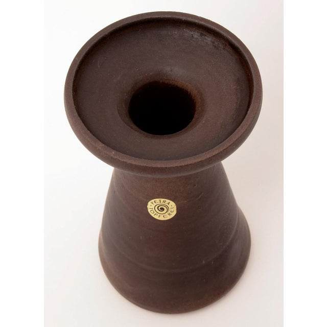 Petra Topferei Pottery Vase Mid Century Modern Signed with Label Stoneware Made in Germany in the 60s Very nice condition....