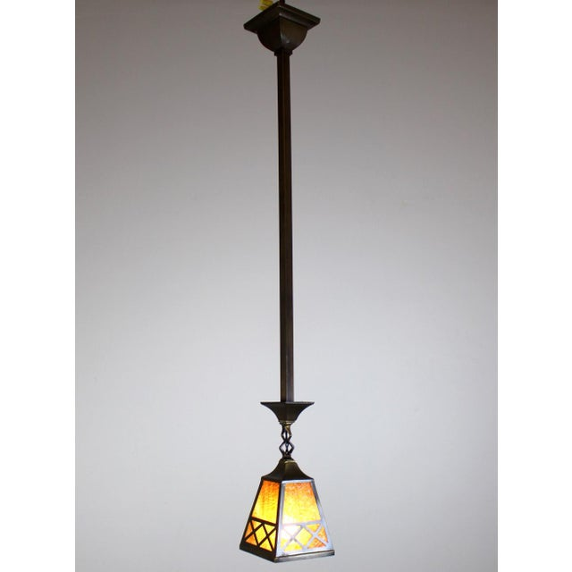 Arts & Crafts Arts & Crafts Style Pendant Fixture. For Sale - Image 3 of 7