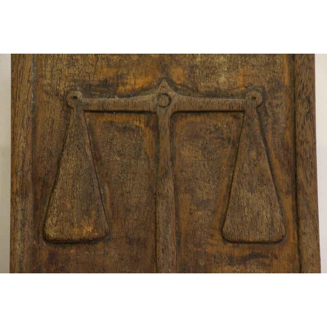 Traditional Pair of Wooden Imported Double Door Pulls For Sale - Image 3 of 7