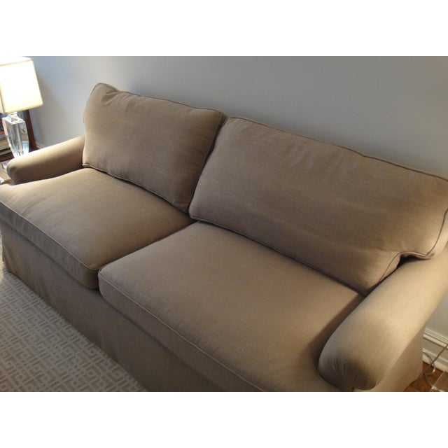 Newly Reupholstered Linen Sofa - Image 5 of 7