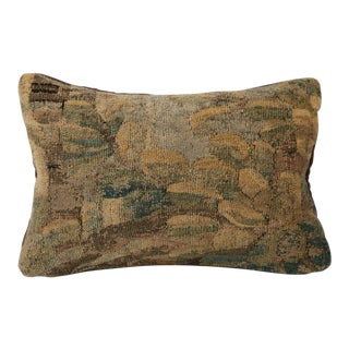 18th Century Aubusson Pillow With Mohair Backing