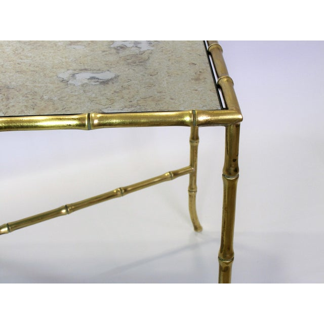 Maison Bagues French Brass Bamboo Coffee Table - Image 8 of 11