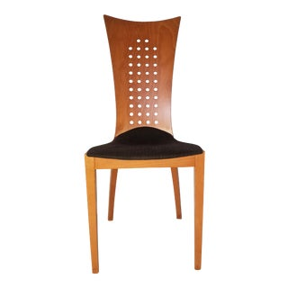 Vintage Italian Pierced Back Dining Chair For Sale