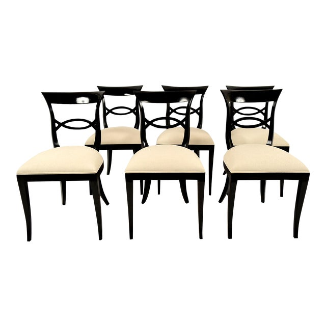 Regency-Style Dining Chairs - Set of 6 - Image 1 of 9