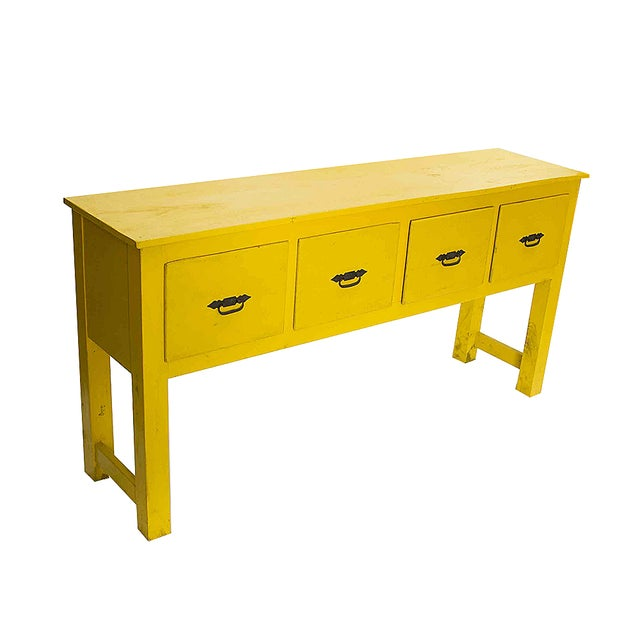 Southwestern Yellow Console Table - Image 2 of 3