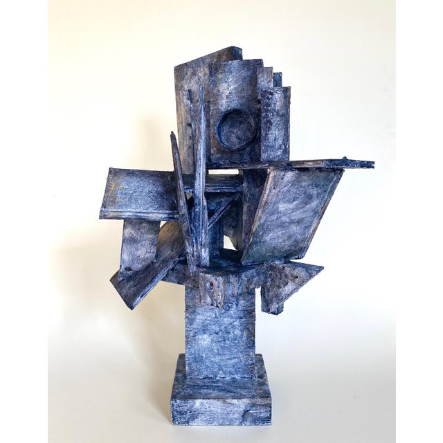 Mid 20th Century Mid-Century Modernist / Cubist Sculpture For Sale - Image 5 of 6