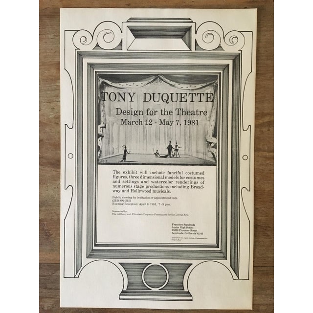 1980s Tony Duquette Posters - A Pair For Sale - Image 5 of 8