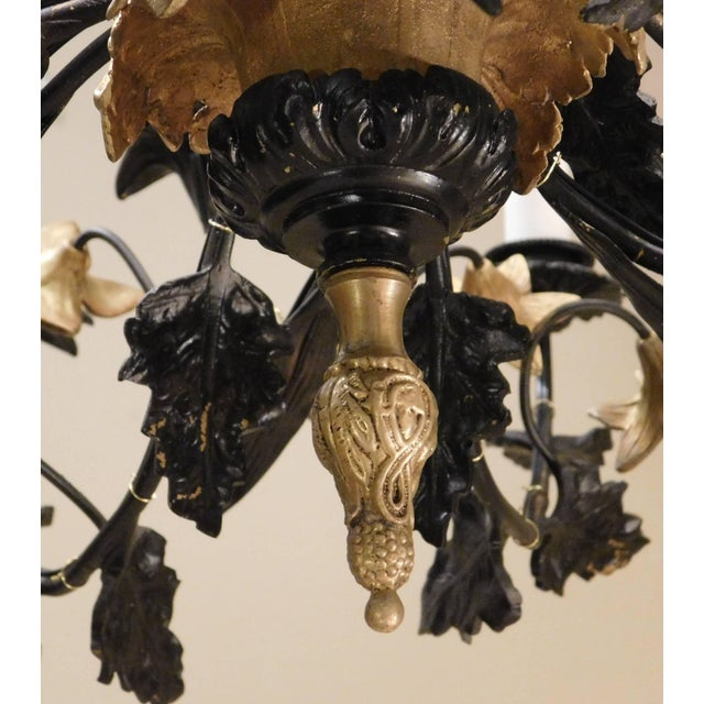 Metal Neoclassical Style Foliate 14-Light Chandelier, France Circa 1905 For Sale - Image 7 of 9