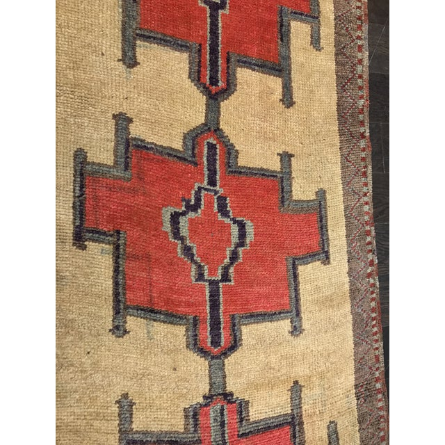 Bellwether Rugs Tribal Pattern Vintage Turkish Oushak Rug - 2′10″ × 12′3″ - Image 7 of 11