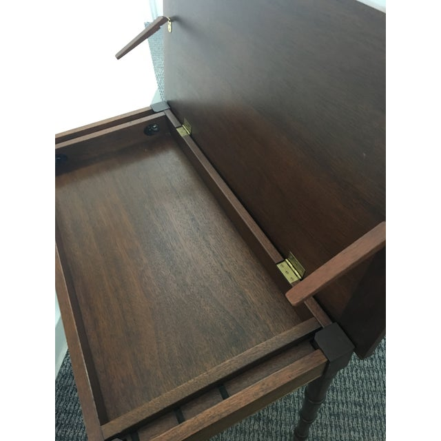 1960s Chinoiserie Faux Bamboo Table With Tilt Top For Sale In Washington DC - Image 6 of 10