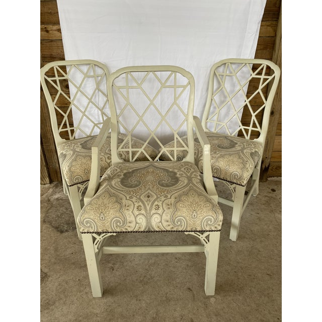 Clive Daniel Fretwork Chairs - Set of 3 For Sale - Image 12 of 13