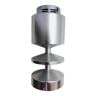 Postmodern Chrome Table Lighter For Sale