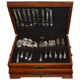 Towle Sterling Silver Flatware Set Chippendale Pattern 39 Pieces For Sale