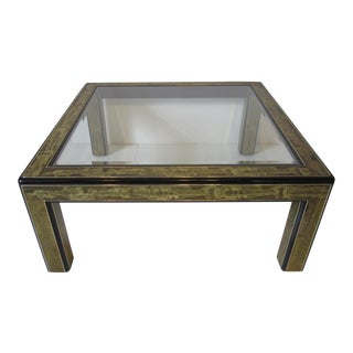Mastercraft Acid Etched Coffee Table by Bernard Rohne For Sale