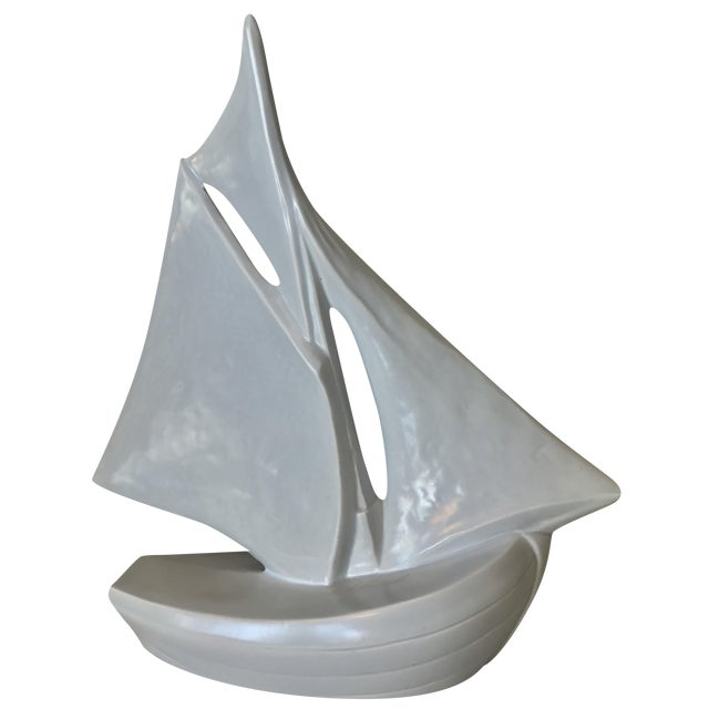 Vintage French Ceramic Sailboat - Image 1 of 11